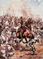 Charge of the Twenty-First Lancers, illustration from Glorious Battles of English History by Major C.H. Wylly, 1920s - Henry A. (Harry) Payne