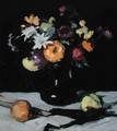 Still Life with Chrysanthemums against Black, c.1912 - Samuel John Peploe