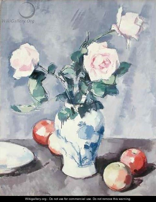 Still Life of Roses in a Blue and White Vase - Samuel John Peploe