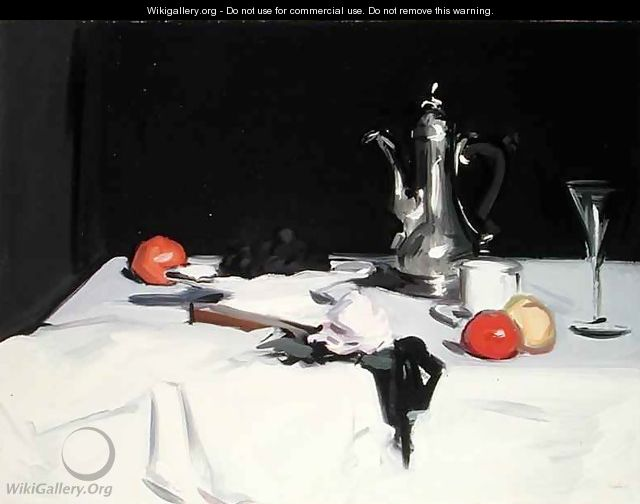 Still Life with Coffee Pot, c.1905 3 - Samuel John Peploe