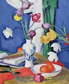 Tulips and Fruit, c.1919 - Samuel John Peploe