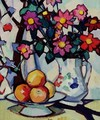 Still life of dahlias and fruit, c.1910-12 - Samuel John Peploe