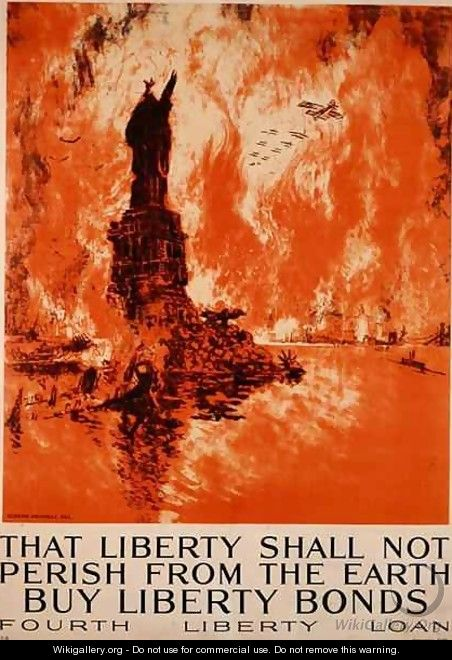 That Liberty Shall Not Perish From The Earth, Buy Liberty Bonds, First World War poster - Joseph Pennell