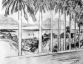 View from Ancon Hill, plate XXV from The Panama Canal by Joseph Pennell, 1912 - Joseph Pennell