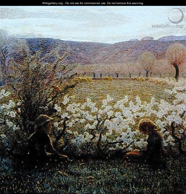 Field in Bloom - Giuseppe Pellizza da Volpedo