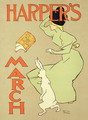 Reproduction of a poster advertising Harpers Magazine, March edition, American, 1894 - Edward Penfield