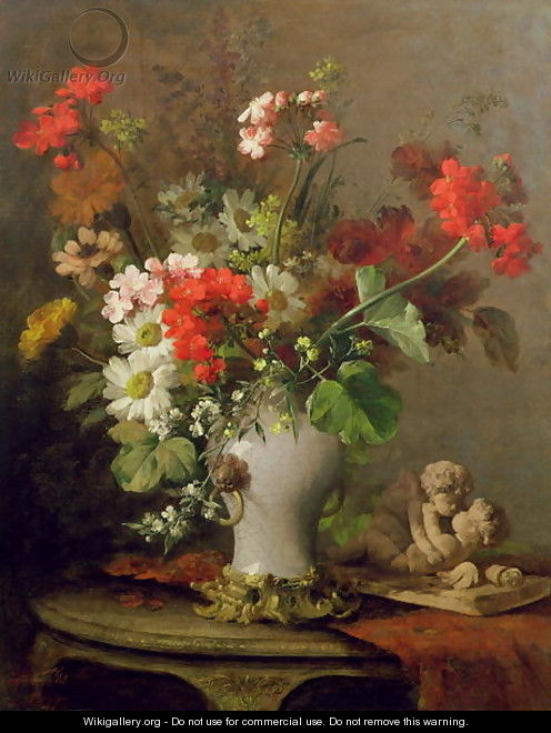 Summer Flowers In A Vase Eugene Petit Wikigallery Org The Largest Gallery In The World