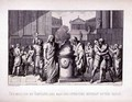 The Meeting of Camillus and Manlius After the Retreat of the Gauls, engraved by B.Barloccini, 1849 - (after) Perkins, C.C