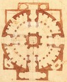 Plan for a Church - Michelangelo Buonarroti