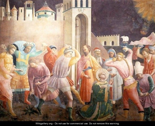Stoning of St Stephen - Paolo Uccello