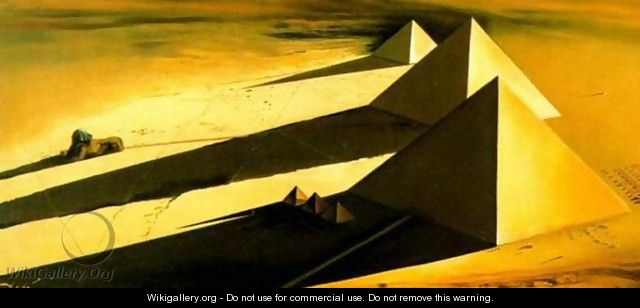 The Pyramids and the Sphinx of Gizeh - Salvador Dali