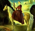 Equestrian Fantasy - Portrait of Lady Dunn - Salvador Dali