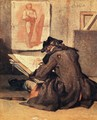 The Student Drawing  - Jean-Baptiste-Simeon Chardin