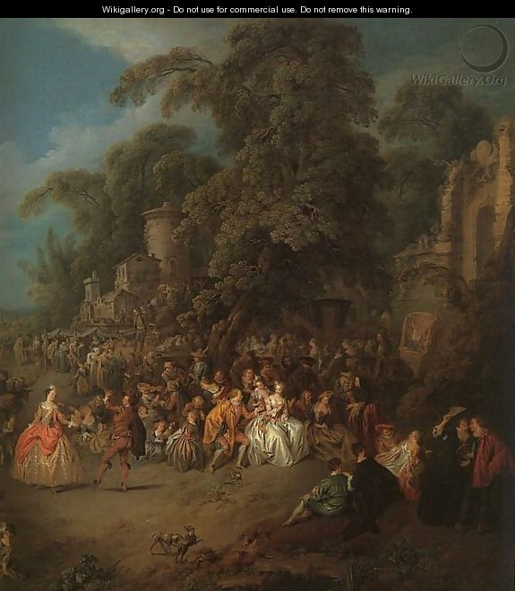 The Fair at Bezons - Jean-Baptiste Joseph Pater