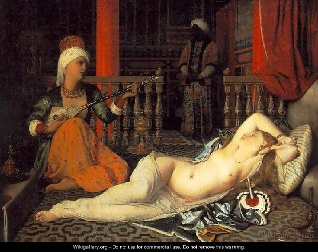 Odalisque with a Slave - Jean Auguste Dominique Ingres