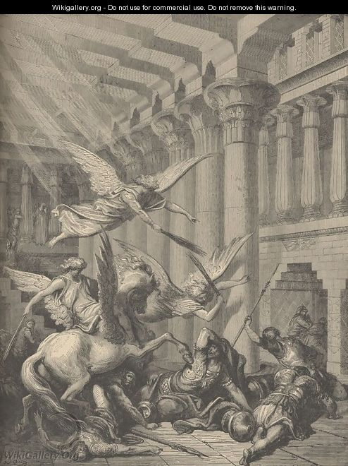 Heliodorus Punished In The Temple - Gustave Dore
