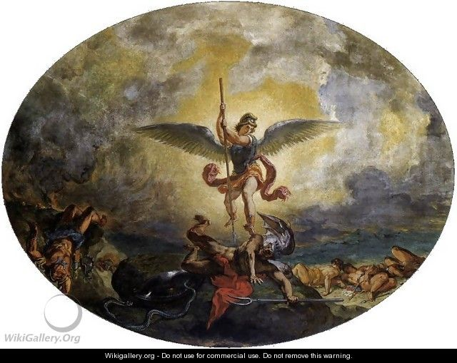 St Michael defeats the Devil - Eugene Delacroix