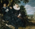 Marriage Portrait of Isaac Massa en Beatrix van der Laen - Frans Hals