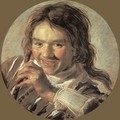 Boy holding a Flute (Hearing) - Frans Hals