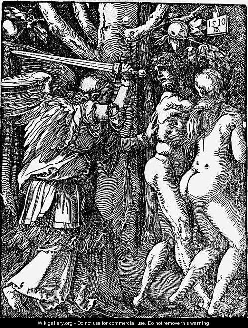 Expulsion from Paradise - Albrecht Durer