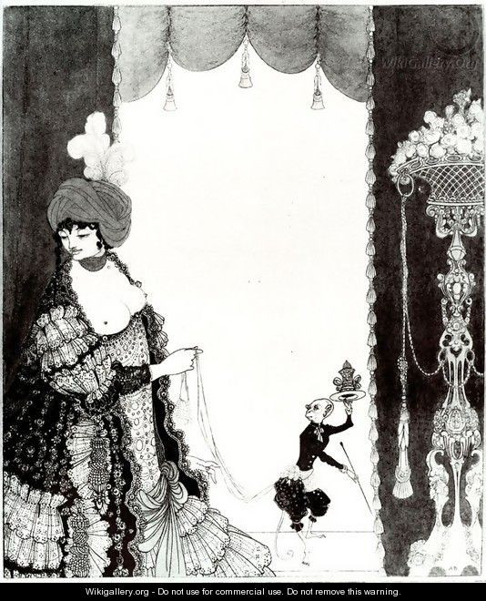 The Lady with the Monkey - Aubrey Vincent Beardsley