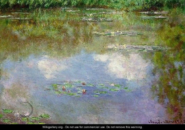 Water Lilies: Clouds - Claude Oscar Monet