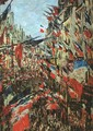 Rue Montargueil with Flags - Claude Oscar Monet