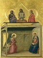 The Annunciation and Christ suffering 1351-75 - Allegretto Nuzi