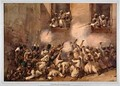 The 93rd Highlanders entering the breach at the storming of the Secundrabagh Lucknow 16th November 1857 - Orlando Norie