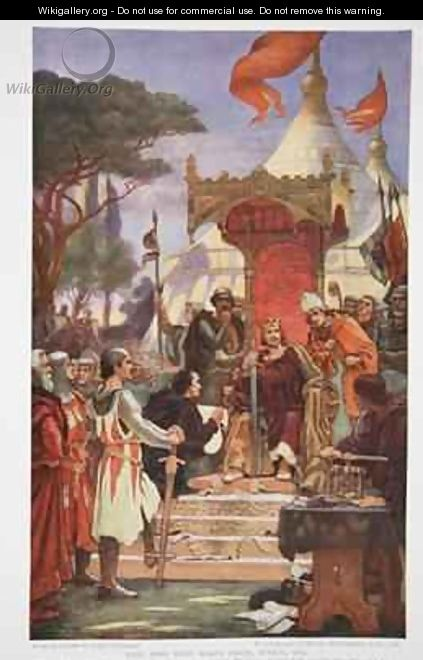 King John signs the Magna Carta - Ernest Normand