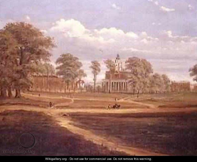 View across Clapham Common towards North Side and The Pavement 1878 - C. Norris