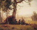 Guerrilla Warfare: Picket Duty in Virginia - Albert Bierstadt