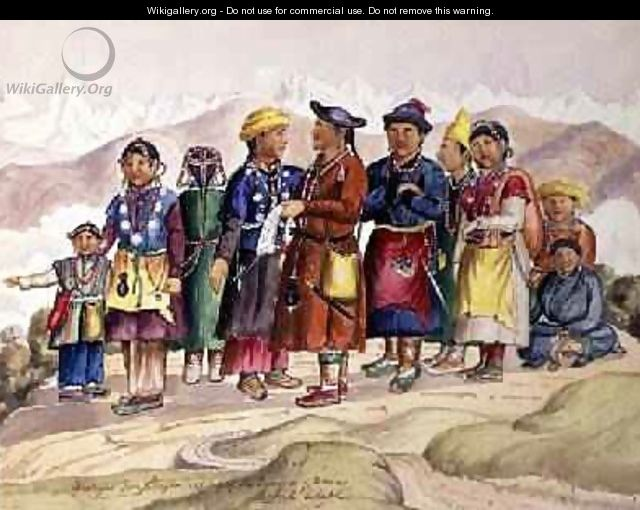 Bhotias Tibetans from Lhasa the capital of the Province of Utsang Central Tibet 1852-60 - Dr. H.A. Oldfield