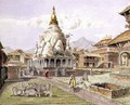 Rato Machhendranath Temple at Bungamati Newari Tribe Village Nepal July 1857 - Dr. H.A. Oldfield