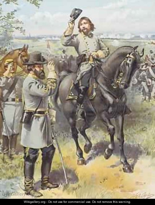 General Pickett taking the order to charge from General Longstreet Battle of Gettysburg 3rd July 1863 - Henry Alexander Ogden