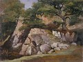 A View of the Valley of Rocks near Mittlach - James Arthur O