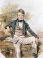 Portrait of Benjamin Gibbons Seated with a View of Eton College Beyond 1838 - Octavius Oakley