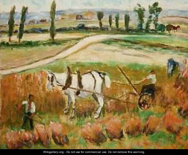 Harvesting with a White Horse - Roderic O
