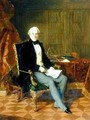 Portrait of Henry Pelham-Clinton Holding a Document in His Study 1850 - Henry Nelson O'Neil