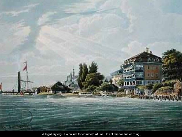Bellevue Hotel and Pension on the Lac de Thoune - Wilhelm Ulrich Oppermann