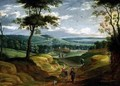 Extensive Landscape with Travellers on a Path - Isaak van Oosten