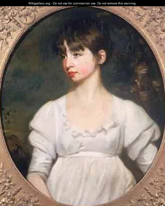 Portrait of a Young Woman in a White Dress 1805 - John Opie