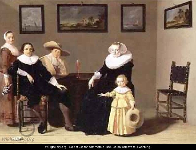 Dutch Family in an Interior 1634 - Jan Olis