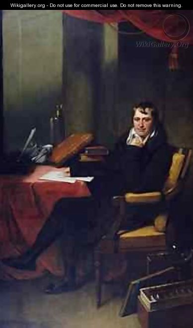 Portrait of Humphry Davy 1778-1829 - (attr. to) Oliver, Archer James