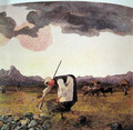 The harvesting of hay - Giovanni Segantini
