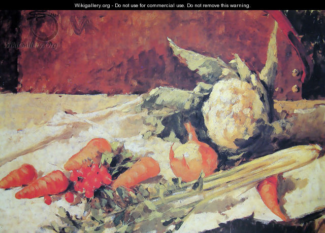 Still life with carrots - Giovanni Segantini