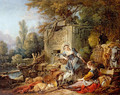 Resting at the fountain - François Boucher