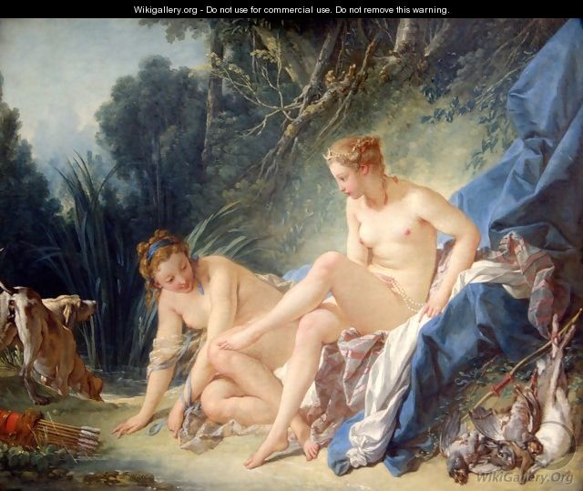 Diana Leaving her Bath - François Boucher