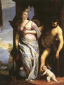 Allegory of Wisdom and Strength, The Choice of Hercules or Hercules and Omphale (original by Paolo Veronese) - François Boucher