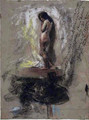 Study of a Nude Girl - Antonio Mancini